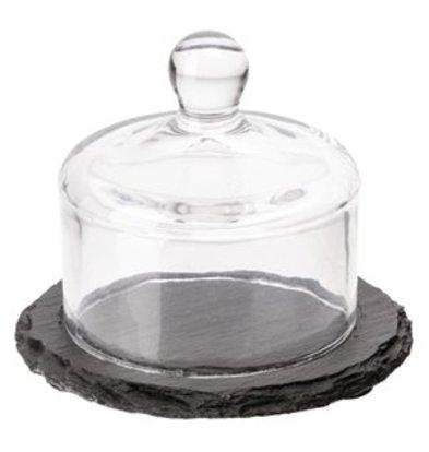 XXLselect Schieferplatte mit Glasdeckel