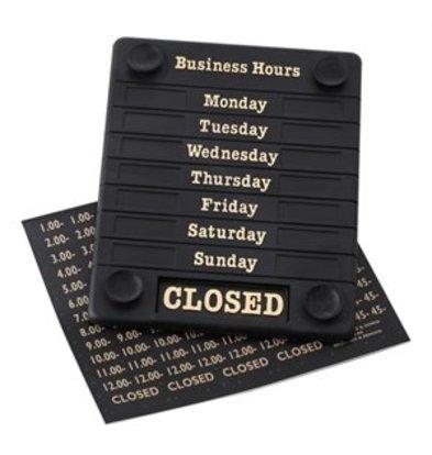 XXLselect Schild für Öffnungszeiten Open/Closed Tagen der Woche und Zeiten