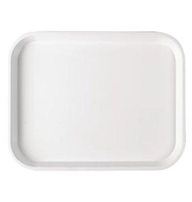 XXLselect Serviertablett Polysterol weiß 45x35cm