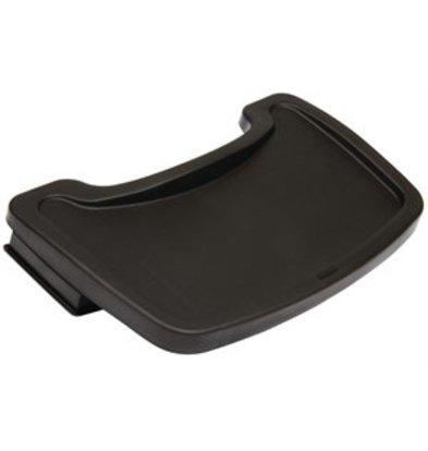 XXLselect Tablett für Kinderstuhl schwarz