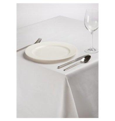 XXLselect Tischdecke aus Polybaumwolle weiß 137cm