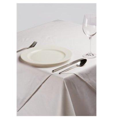 XXLselect Tischdecke aus Polybaumwolle weiß 89cm