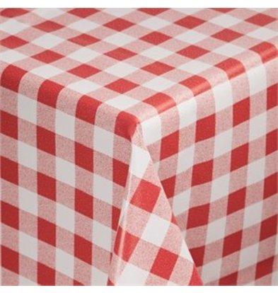 XXLselect Wachstischdecke rot weiß kariert 89cm