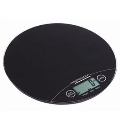 XXLselect Weightstation elektronische runde Waage 5kg