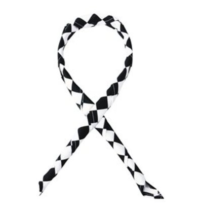 XXLselect Whites Halstuch schwarz weiß großkariert