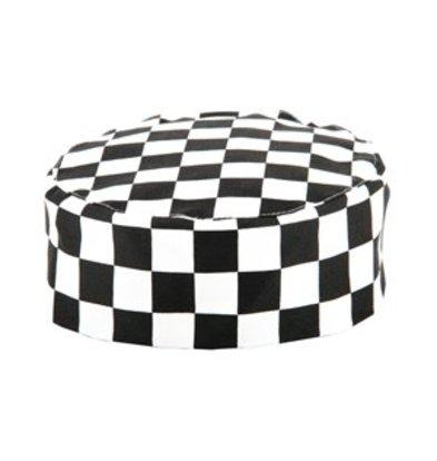 XXLselect Whites Skull Cap Kochmütze schwarz weiß großkariert