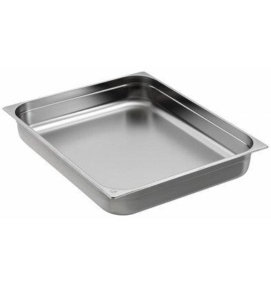 Saro Gastronorm Behälter Edelstahl GN 2/1 T150