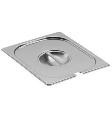 Saro Gastronorm Behälter - Deckel mit Löffelauss. GN 1/6