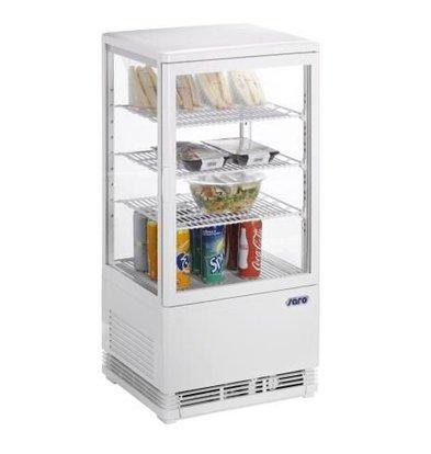 Saro Mini-Umluftkühlvitrine 70 liter weiß
