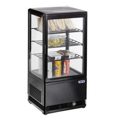 Saro Mini-Umluftkühlvitrine 70 liter schwarz