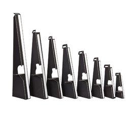 Kartonnen ezeltje/steuntje, zwart met plakstrip 13cm. 25 stuks