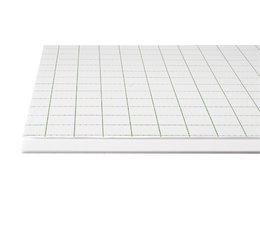 Foamboard zelfkl.wit, formaat 50x70cm, dikte 5mm. 25vel
