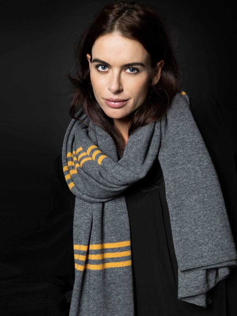 sjaal sjaalmania pinstripe grey melee-pantone