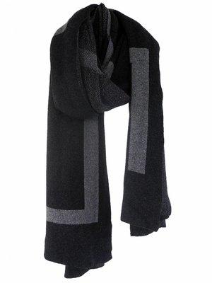 SjaalMania Blanketsjaal LOVE Black Melee/Mid Grey Melee