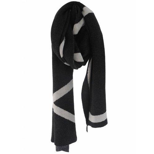 SjaalMania Blanketsjaal COSY Black Melee/Light Sand Melee