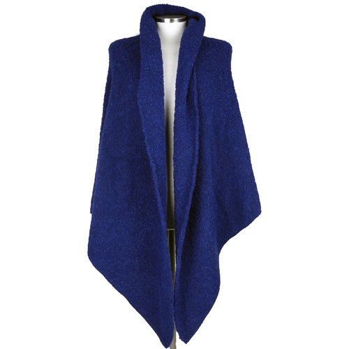 SjaalMania Big Wrap Boucle Midnight Blue
