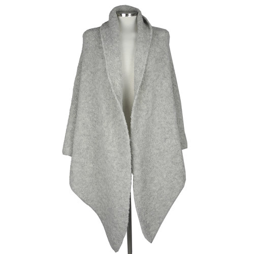SjaalMania Big Wrap Boucle  Light Grey Melee