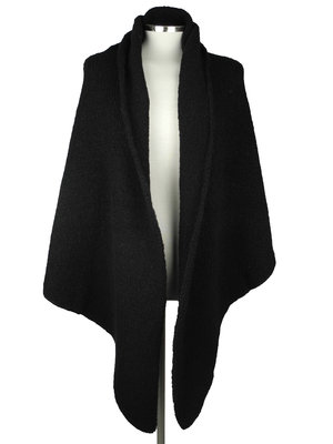 SjaalMania Big  Wrap Boucle Solid Black