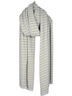 Sjaal Cosy Chic Stripes Grey - Sand