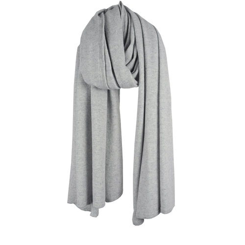 Travel Wrap Cosy Short Pearl Grey Melee