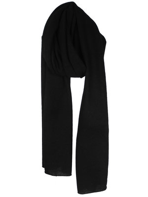 Cosy Scarf 100% Cashmere Solid Black