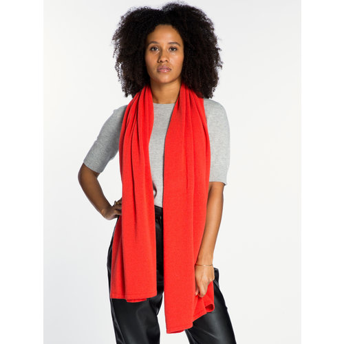 Sjaal SjaalMania Cosy Short Poppy Red