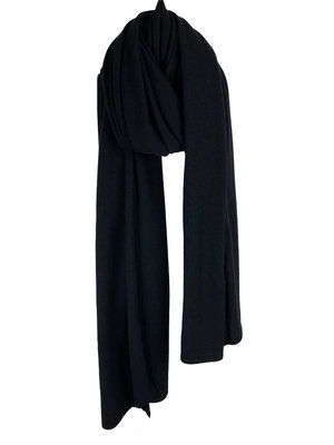 Sjaal SjaalMania Cosy Chic Solid Black