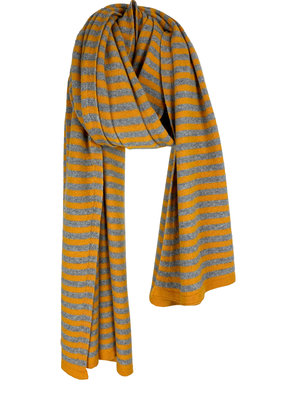Travel Wrap Cosy Short Stripes Pantone - Mid Grey Melee
