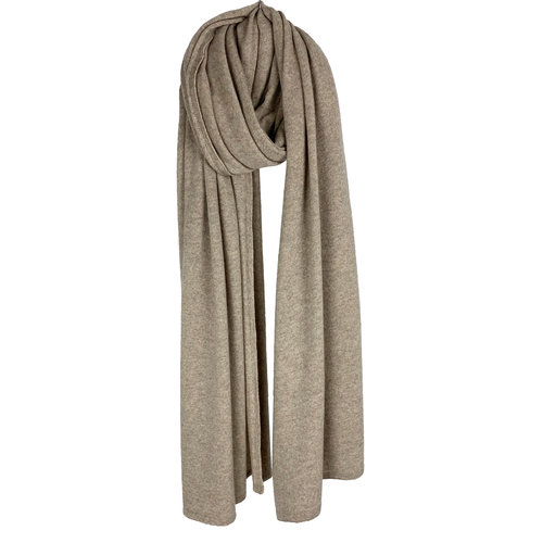 Cosy Travel Light Wrap - Soft Taupe Melee