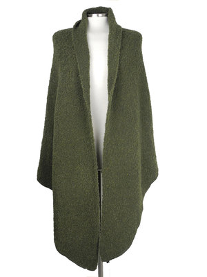 Cosy Big  Wrap Boucle Army Green