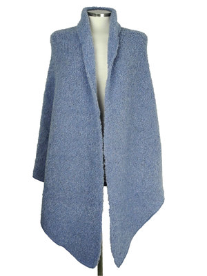 Cosy Big Wrap Boucle Washed Denim
