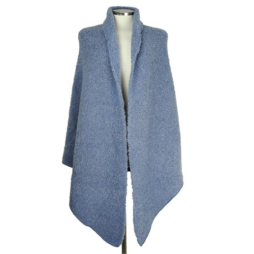 SjaalMania Big Wrap Boucle Washed Denim