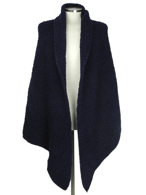 Cosy Big Wrap Boucle Navy