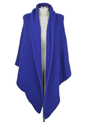 SjaalMania Big Wrap Boucle Dazzling Blue