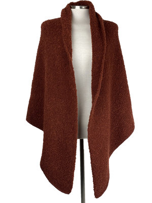 Cosy Big Wrap Boucle Rusty Brown