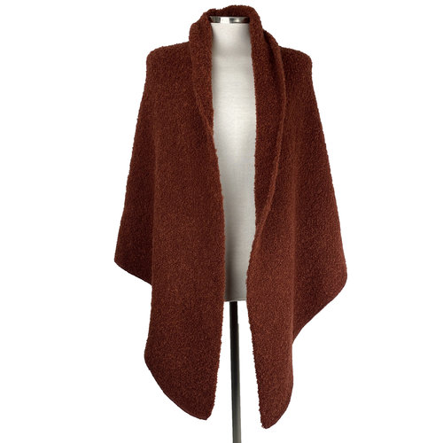 SjaalMania Big Wrap Boucle Rusty Brown
