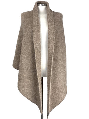 Cosy Big Wrap Boucle Soft Taupe
