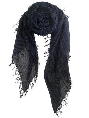 sjaal SjaalMania Cashmy Zebra Blue-ish