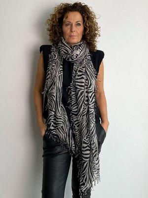 Sjaal Cosy Cashmy Zebra Black-Neutral