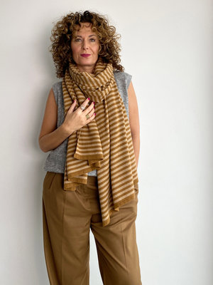 Sjaal Cosy Chic Stripes Tiger's Eye - Camel