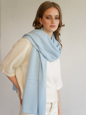 Cosy Scarf 100% Cashmere Airy Blue