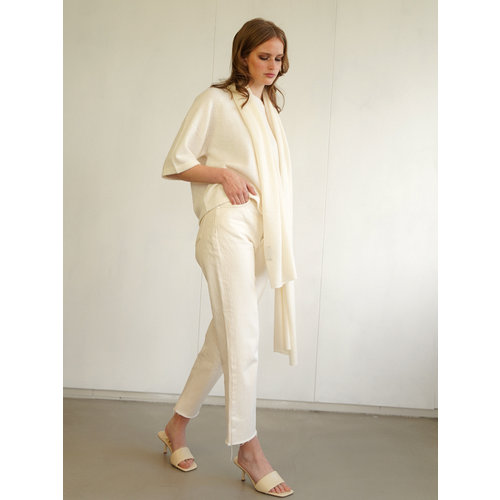 Scarf Cosy 100% Cashmere Off White