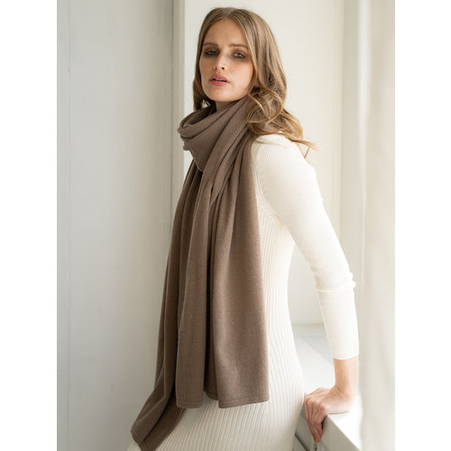 Sjaal Cosy Chic Taupe Mat
