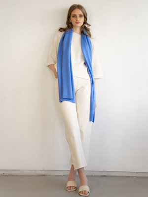 Cosy Scarf 100% Cashmere Azure Blue