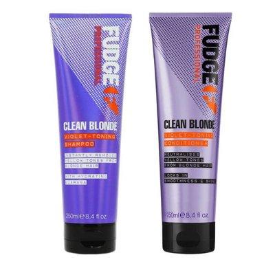 Fudge Clean Blonde Violet Toning Duopack Shampoo 250ml + Conditioner 250ml
