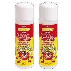 Kriebeldiertjes 2 in 1 hoofdluis shampoo Duopack