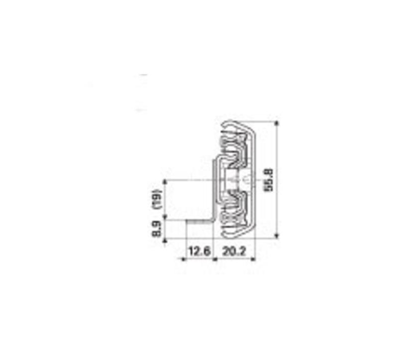 Ladegeleider ULF HD E met ladedrager volledig uittrekbaar