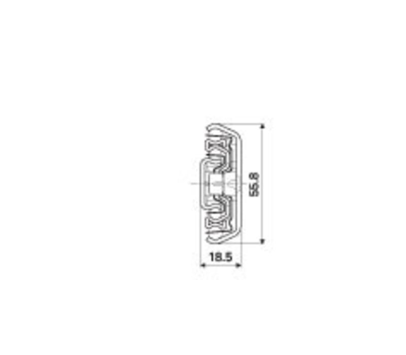 Ladegeleider ULF HD F zonder ladedrager volledig uittrekbaar
