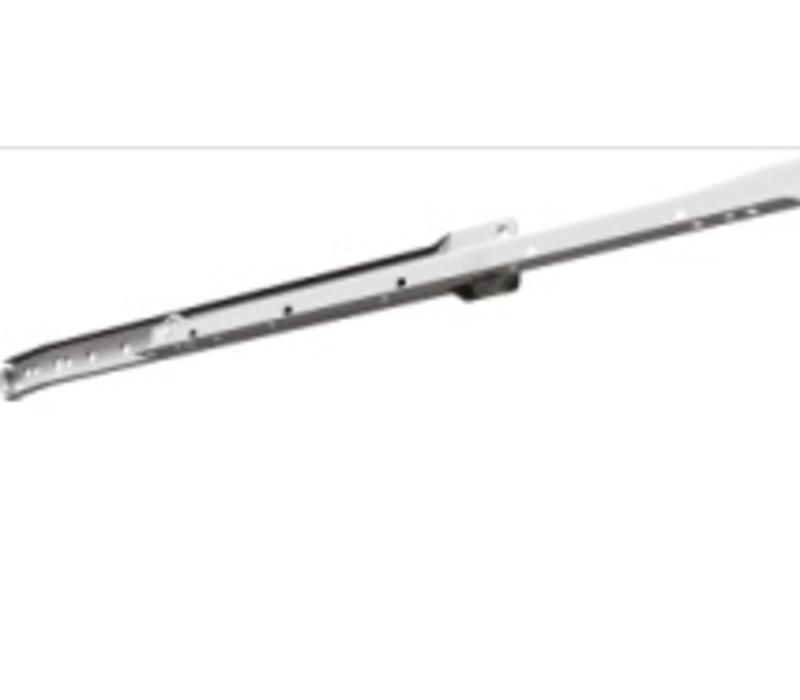 Ladegeleider 230M enkel uittrekbaar, wit draagkracht 25 kilo