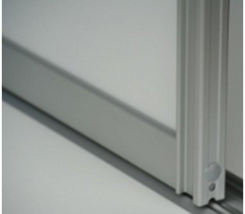 Schuifdeur zelfbouwpakket voor 2 schuifdeuren tot 1300mm hoog (geen plaatmateriaal meegeleverd)